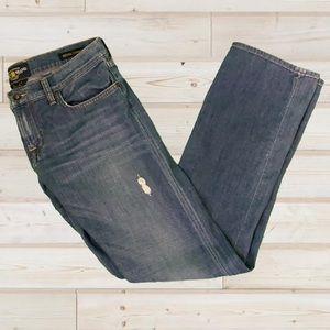 Lucky Brand Sienna Tomboy Boot Cut Worn Look Jean